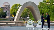 Japan Hiroschima Obama Kranzniederlegung Gedenkstätte