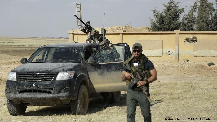 Syrien Provinz Rakka US-Soldaten Spezialkräfte YPG-Allianz
