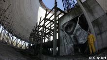 Ukraine Kiew Graffiti Wandbilder Chornobyl