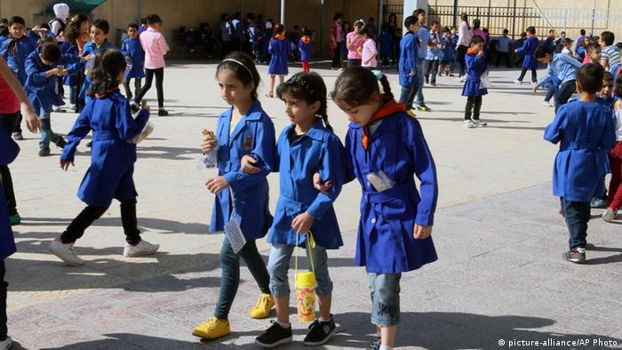 Djeca u jednoj školi u Damasku