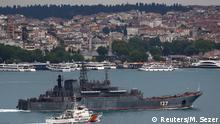 Türkei russisches Kriegsschiff Minsk Bosporus