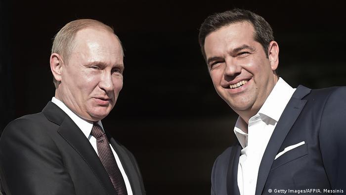 Griechenland Athen Vladimir Putin und Alexis Tsipras