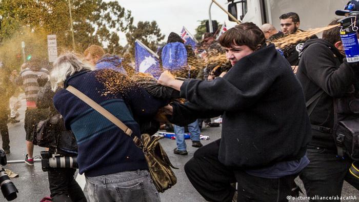Violence erupts at Australia immigration rallies