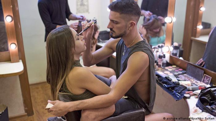 Israel Tel Aviv Miss Trans backstage