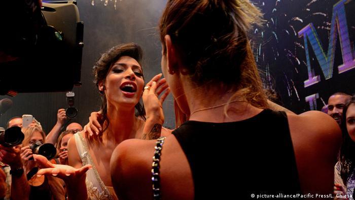 Israel Tel Aviv Miss Trans Gewinnerin Taalin Abu Hanna (Foto: picture-alliance/dpa/A. Sultan)