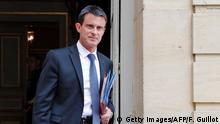 Frankreich Paris Manuel Valls