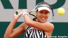Tennis - French Open - Roland Garros - Kumuri Nara of Japan v Ana Ivanovic of Serbia - Paris, France - 26/05/16. Ivanovic returns a shot. REUTERS/Jacky Naegelen