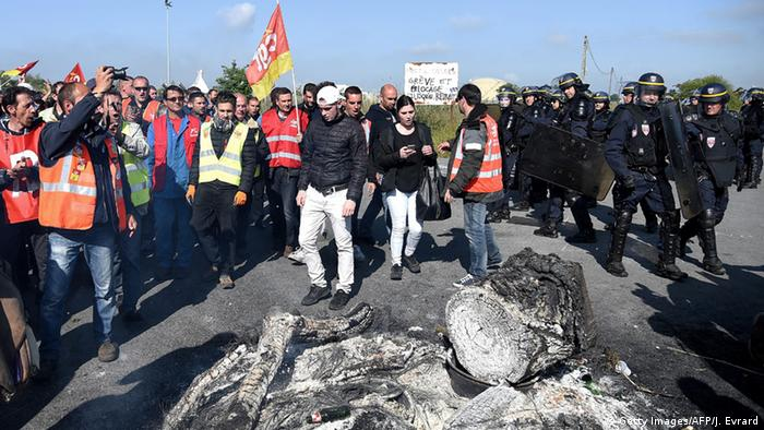 French fuel protesters