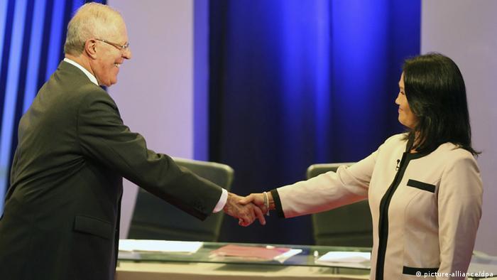 Peru Debatte zwischen Pedro Pablo Kuczynski und Keiko Fujimori