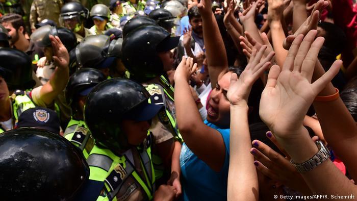 Venezuela Proteste von Studenten