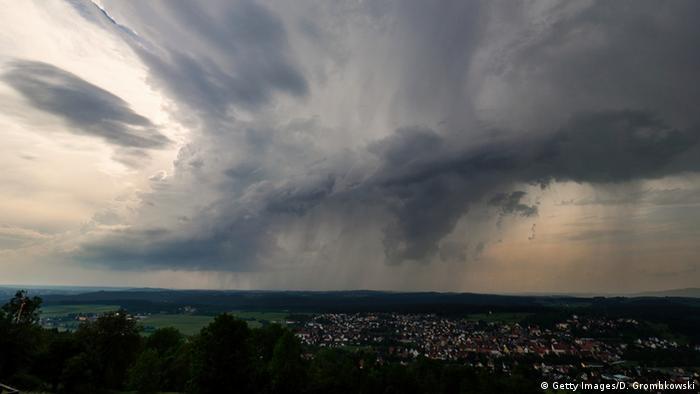 Грозовые ливни в Германии