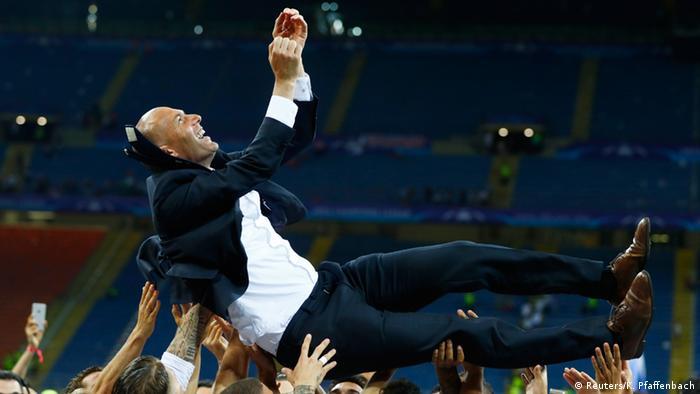Fußball Champions League Finale Atletico Madrid v Real Madrid Zidane (Reuters/K. Pfaffenbach)