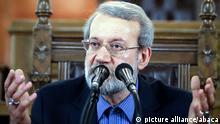 Iran Ali Laridschani im Parlament in Teheran