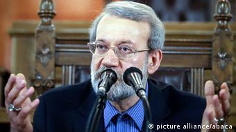 Iran Ali Laridschani im Parlament in Teheran (Foto:picture alliance)