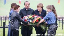 Frankreich Francois Hollande und Angela Merkel Gedenkfeier zur Schlacht von Verdun