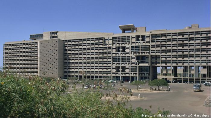 Edificio de Le Corbusier en Chandigarh.