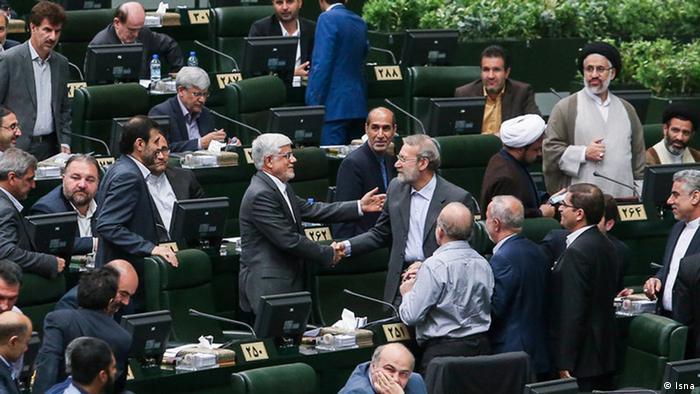 Iran Mohammad Reza Aref im Parlament