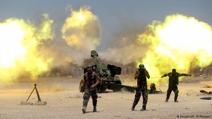 Irak Falludscha Schiitische Miliz Artillerie