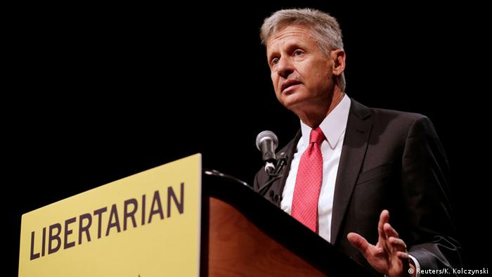 Gary Johnson Libertarian Party candidate for the US presidential election
