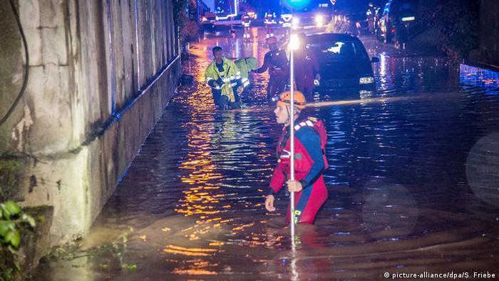 Наводнение в Швебиш-Гмюнд