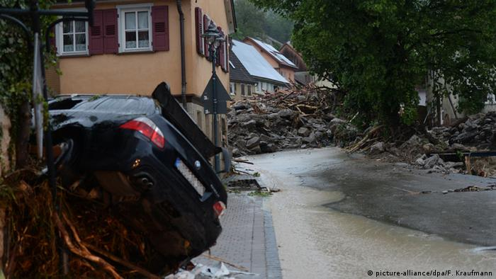 Bad weather in Baden-Württemberg, Germany