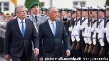 Bundespräsident Gauck empfängt den portugiesischen Präsidenten Marcelo Rebelo de Sousa in Berlin