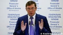 Ukraine Kiew Generalstaatsanwalt Jurij Luzenko