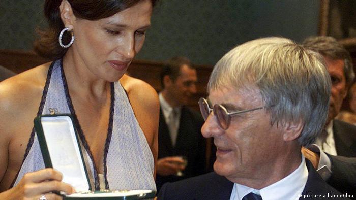Bernie Ecclestone mit Ehefrau Slavica