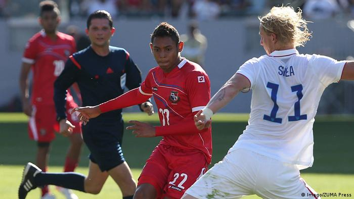Panama Fußballnationalspieler Ismael Diaz während eines Länderspiels gegen die USA