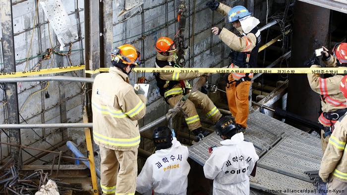 Südkorea Einsturz einer U-Bahn-Baustelle
