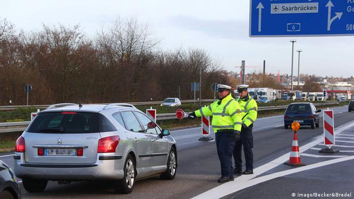 Deutschland Frankreich Grenzkontrolle Bundespolizei (Imago/Becker&Bredel)