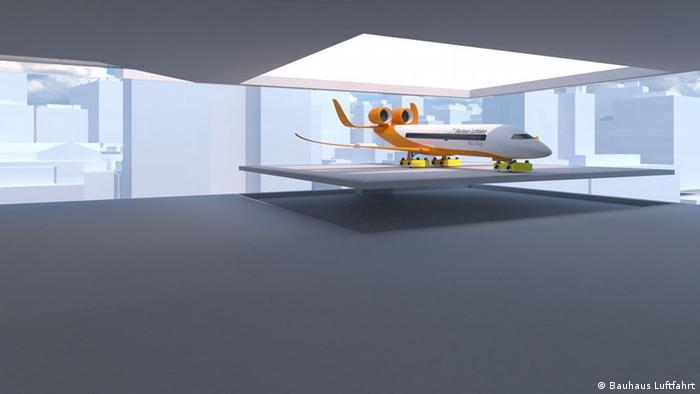 Projeto do aeroporto urbano CentAirStation e do avião CityBird