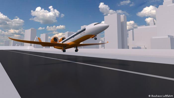 Flughafen- und Flugzeug Konzept CentAirStation und CityBird