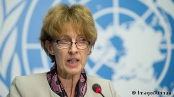 Η επικεφαλής ερευνών του ΟΗΕ Ζακλίν Μακγκλέιντ