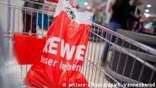 Deutschland Rewe Plastiktüte