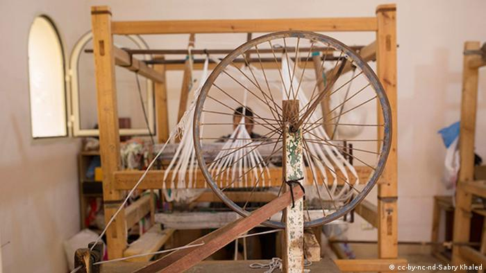 An old-fashioned loom
