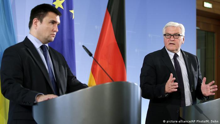 Павел Климкин и Франк-Вальтер Штайнмайер на пресс-конференции в Берлине ,1 июня