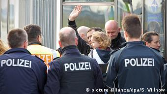 Депортация отказников в аэропоту Лейпцига