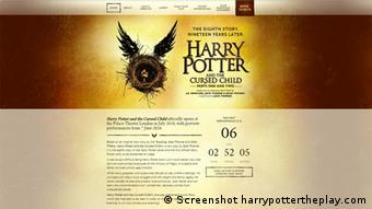 Screenshot Harry Potter Theaterstück, (Foto: Screenshot Pottermore.com)