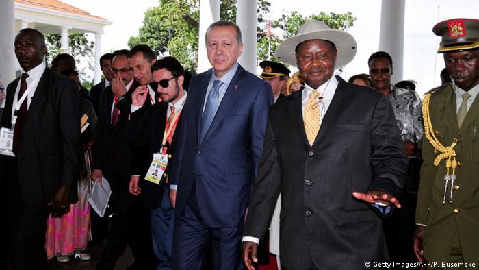 Africa Uganda Erdogan Copyright: Getty Images/AFP/P. Busomoke