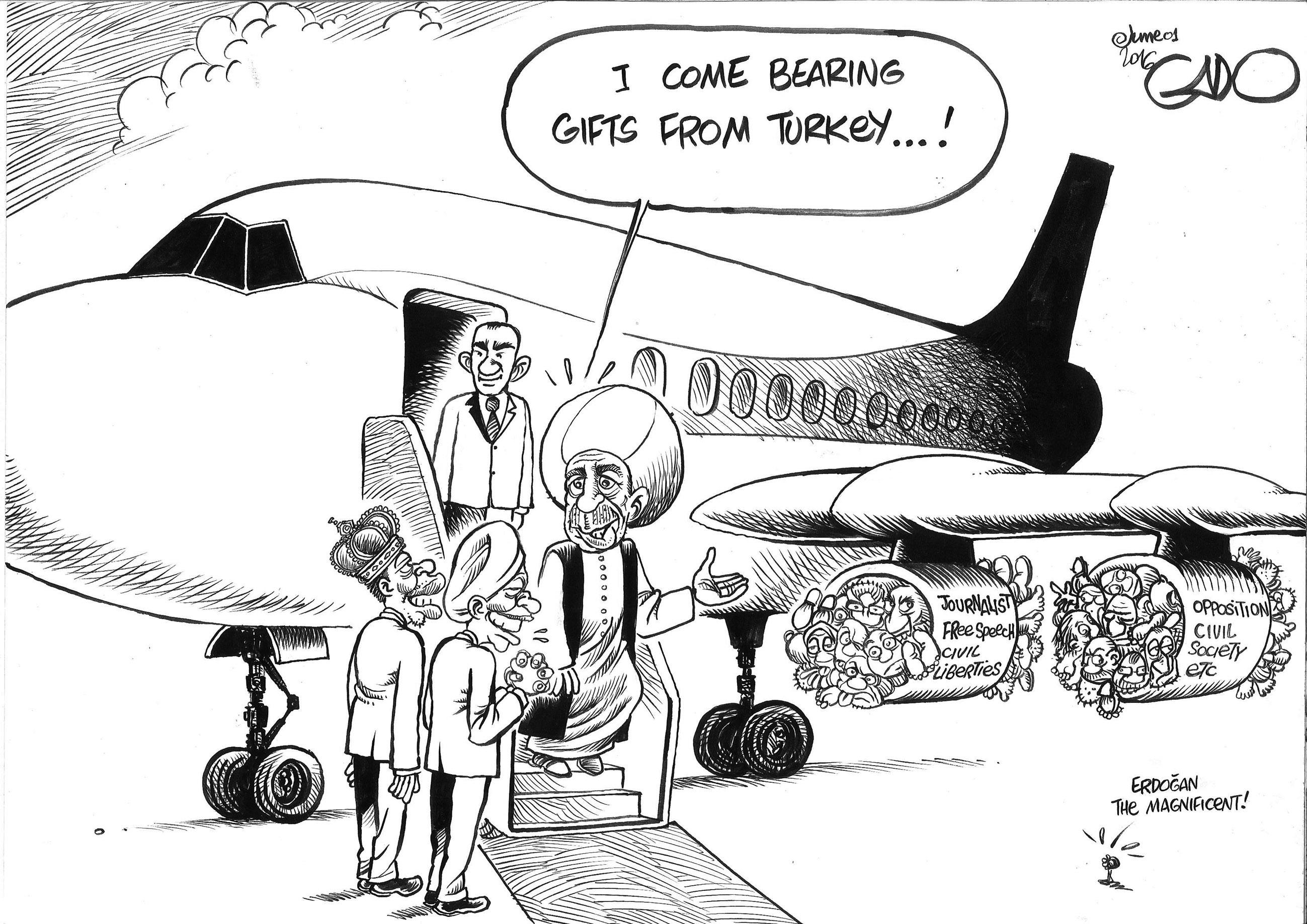 Karikatur zu Erdogan in Uganda von Gado