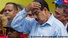 31.05.2016 Venezuelan President Nicolas Maduro takes part in a demonstration with public workers and Chavists in Caracas, Venezuela, 31 May 2016, where he stated that the OAS Secretary General Luis Almagro has asked for foreign intervention in Venezuela to activate the Democratic Charter. Copyright: picture-alliance/dpa/M. Gutierrez