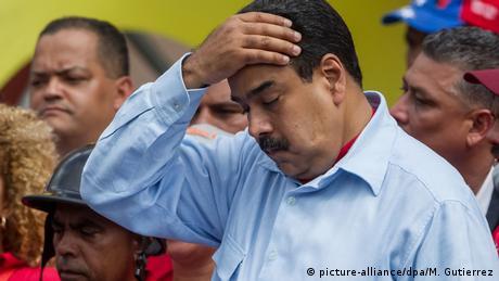 Venezuela Caracas Präsident Nicolas Maduro (picture-alliance/dpa/M. Gutierrez)