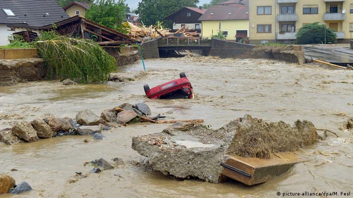 Deutschland Bayern Unwetter Überflutung in Simbach