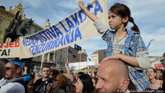 Kroatien Protest für Bildungsreform in Zagreb