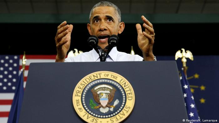 USA Barack Obama Rede in Elkhart, Indiana