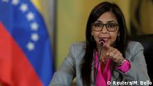 Venezuela Außenministerin Delcy Rodriguez in Caracas