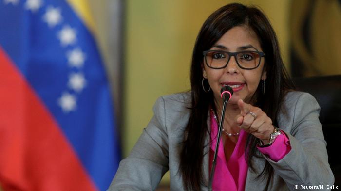 Venezuela Außenministerin Delcy Rodriguez in Caracas (Reuters/M. Bello)