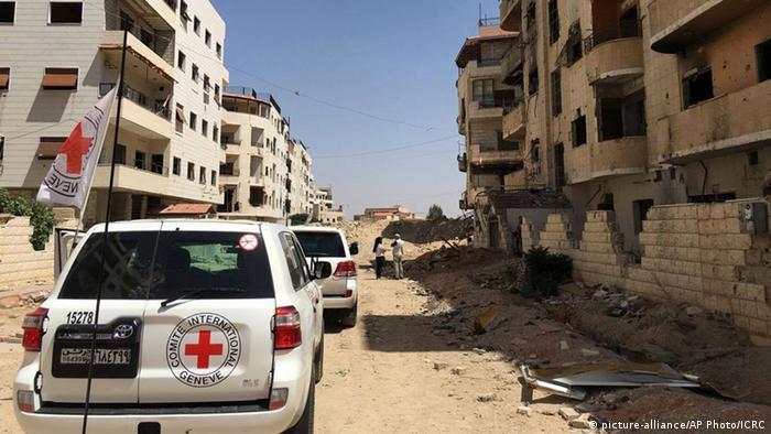 Syrien IKRK Konvoi mit Hilfslieferungen für Daraya