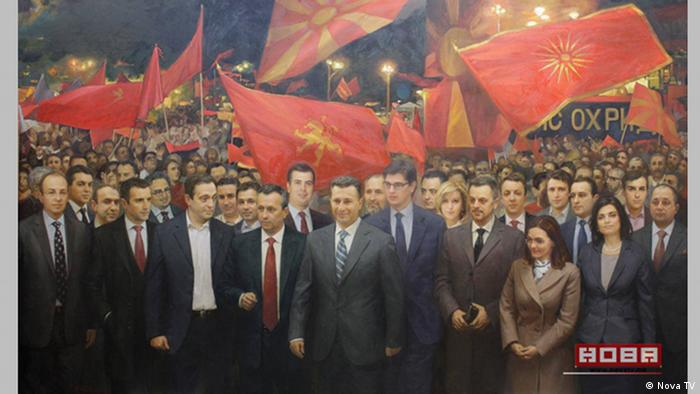 Mazedonien Skopje Führung der Regierungspartei